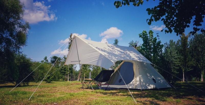 """和一头""""黑鹿""""过周末 黑鹿印第安帐篷天幕组合套装深度体验"""